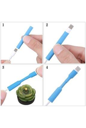 EVRA Iphone Şarj Kablosu Koruyucu Makaron 12 Adet 6 cm