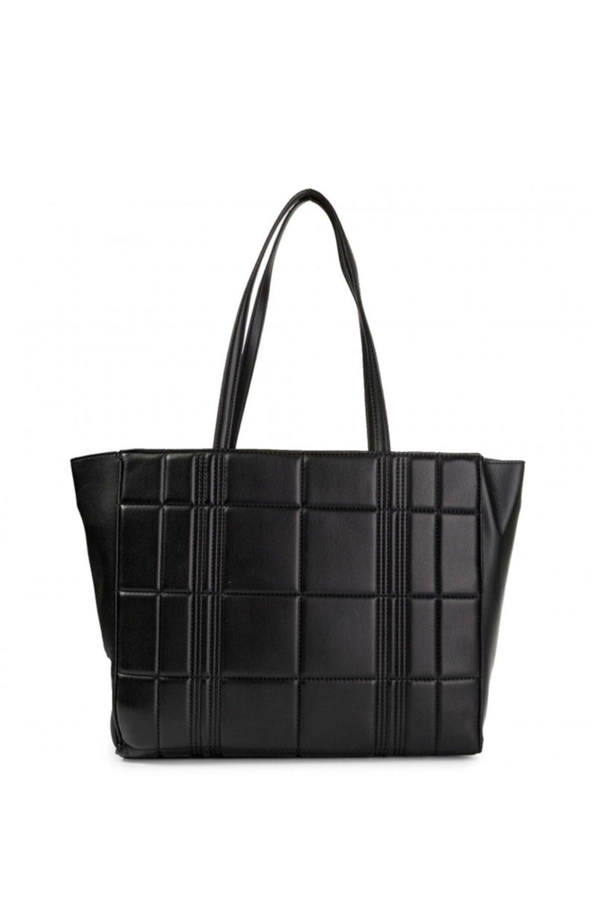 Calvin Klein Kadın Siyah Re Lock Shopper Q Çanta 2