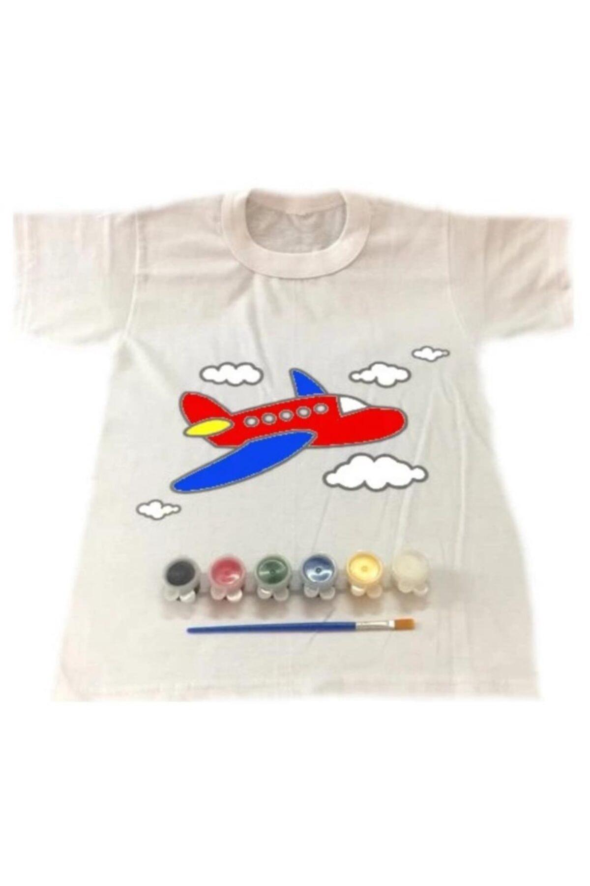 Joy and Toys Uçak Desenli T-shirt Boyama Seti 8-9 Yaş Çocuk Aktivite 2