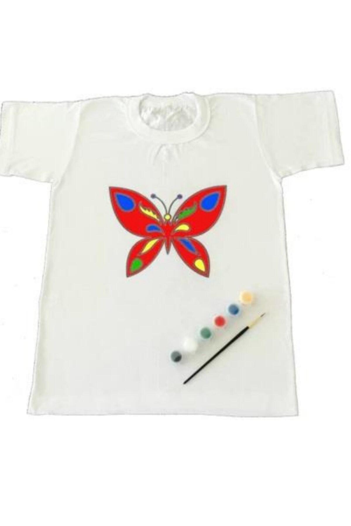 Joy and Toys Kelebek Desenli T-shirt Boyama Seti 4-5 Yaş Çocuk Aktivite 2