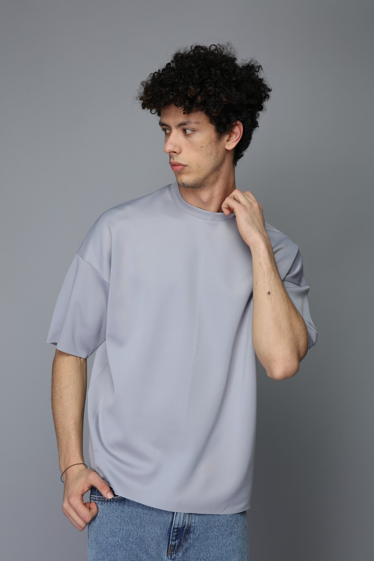 Rocqerx Unisex Gri Scuba Tshirt 1