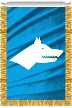 Rekbay Göktürk Bayrağı Sancağı Saçaklı 50x75cm