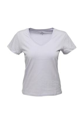 lumberjack CT130 BASIC V NECK T-SHIR Lila Kadın T-Shirt 100581836