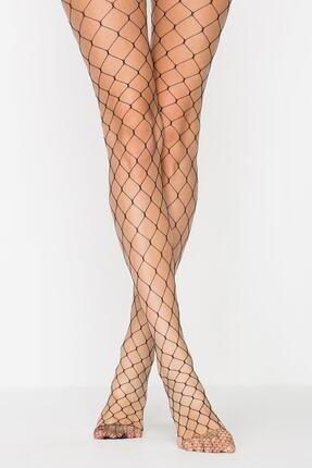Penti Kadın Siyah Büyük File Külotlu Çorap PCFP183K17SK