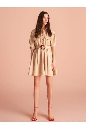 Nocturne Gömlek Yaka Mini Elbise