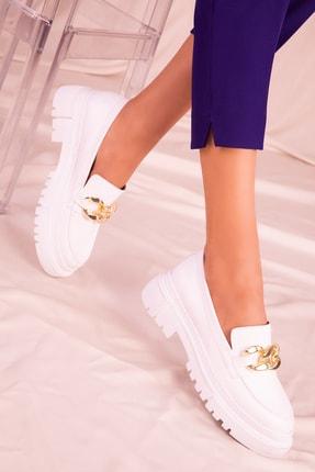 SOHO Beyaz Kadın Casual Ayakkabı 15993