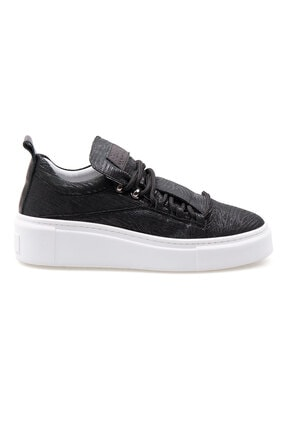 Pegia Kadın Siyah Hakiki Deri Sneaker La1709