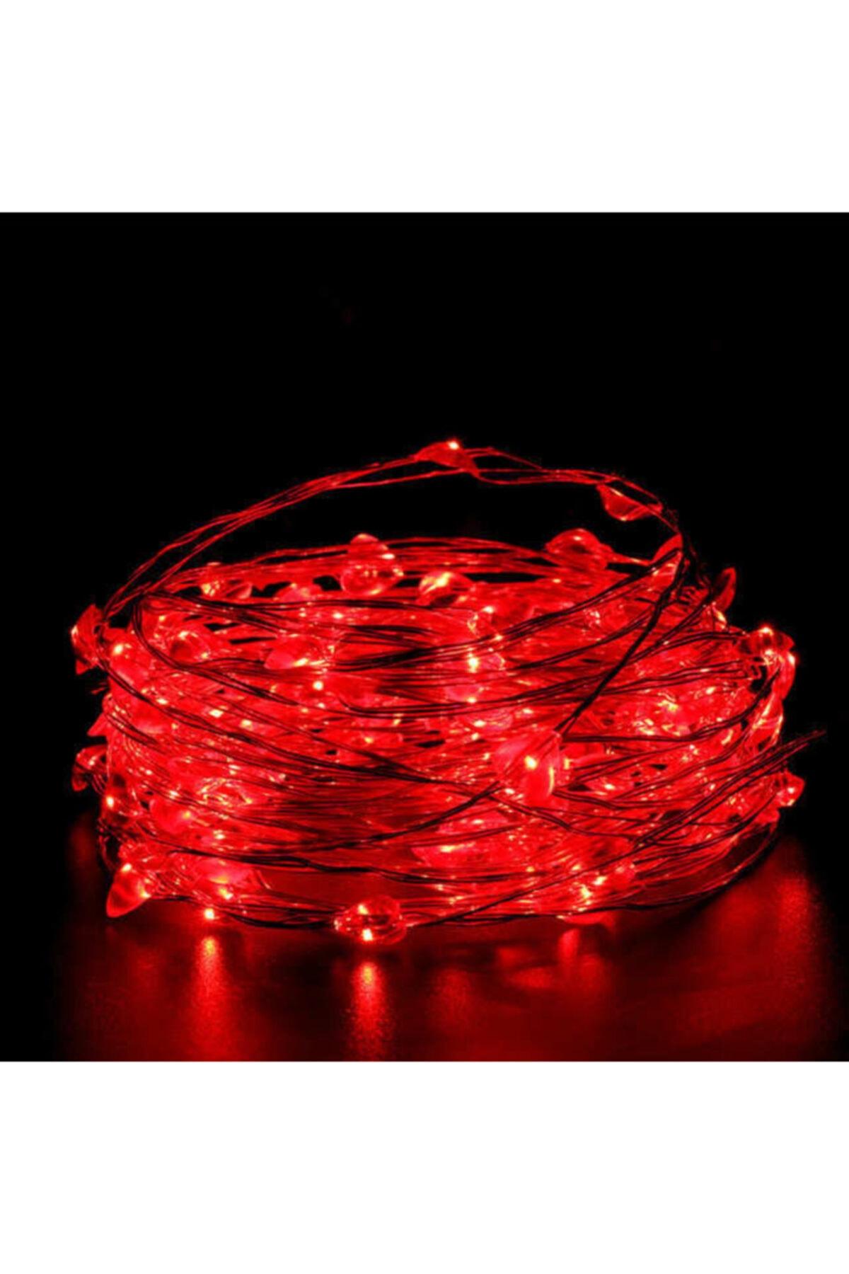BYSHOME Peri Led 5 Metre Pilli Kırmızı Renk Dekoratif Aydınlatma 1