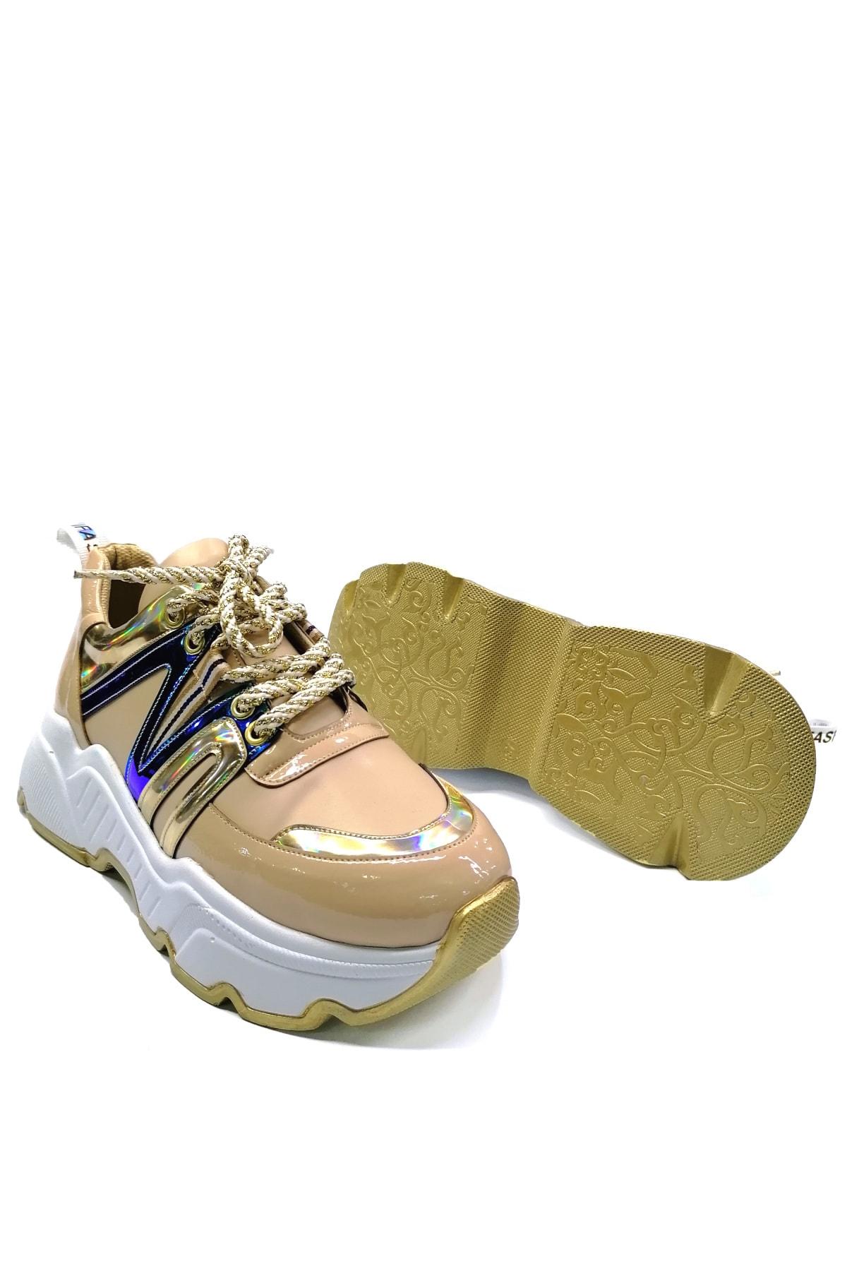 Meshure Kadın Bej Sneaker 2