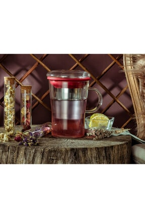 Madame Coco Bayonne Süzgeçli Kupa - Kırmızı - 400 ml