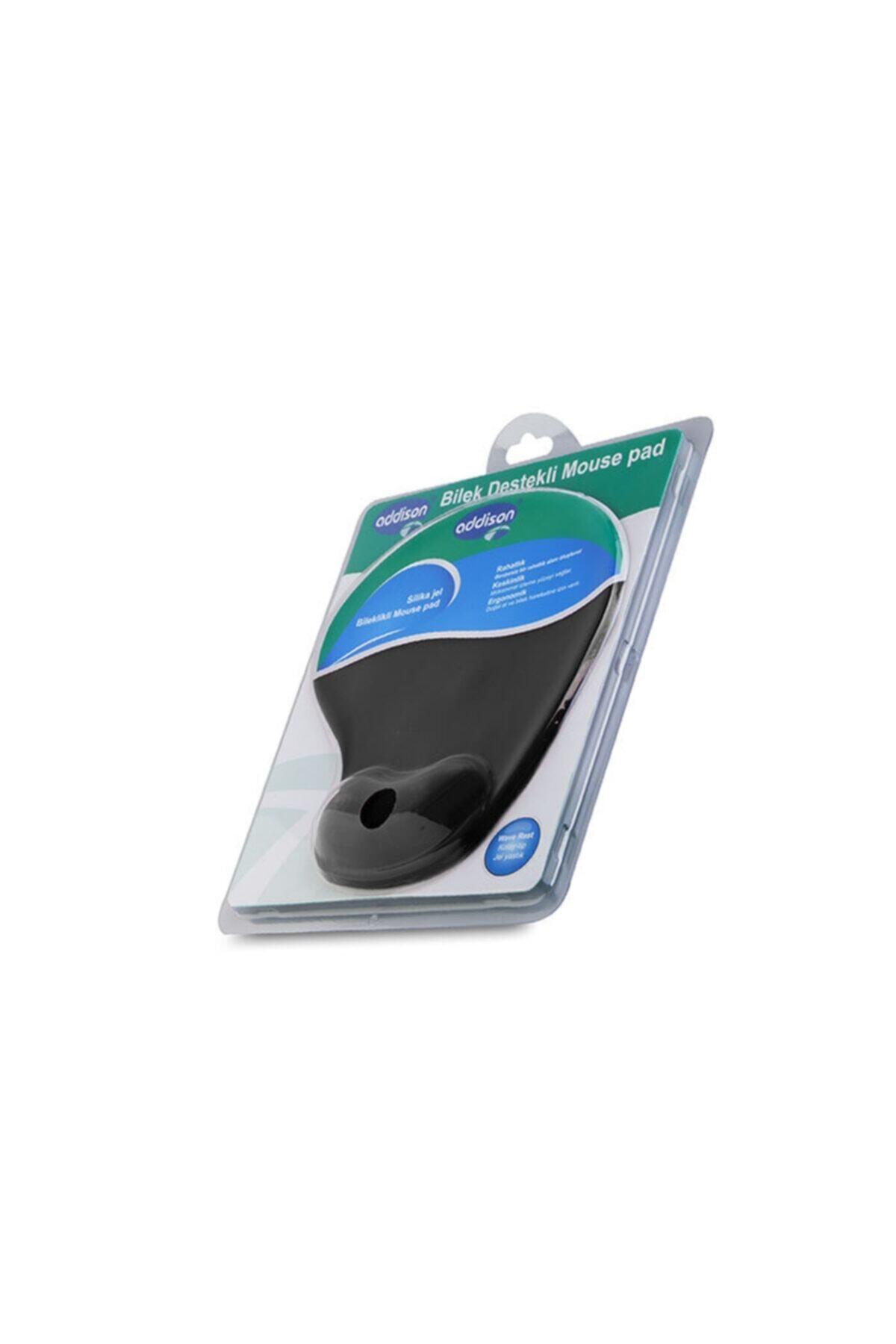 ADDISON Siyah Bileklikli Ve Slikonlu Mouse Pad 300152-siyah 1