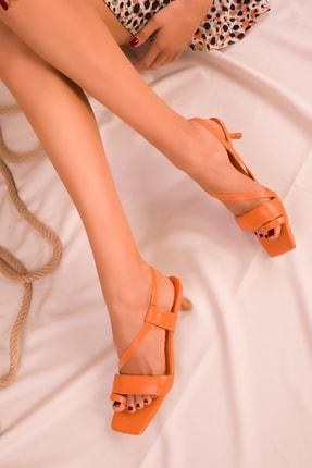 SOHO Turuncu Kadın Klasik Topuklu Ayakkabı 15965