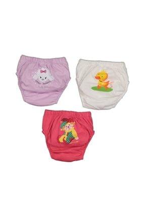 GİSEL TEKSTİL Kız Bebek Tuvalet Alıştırma Külodu 3 Lü