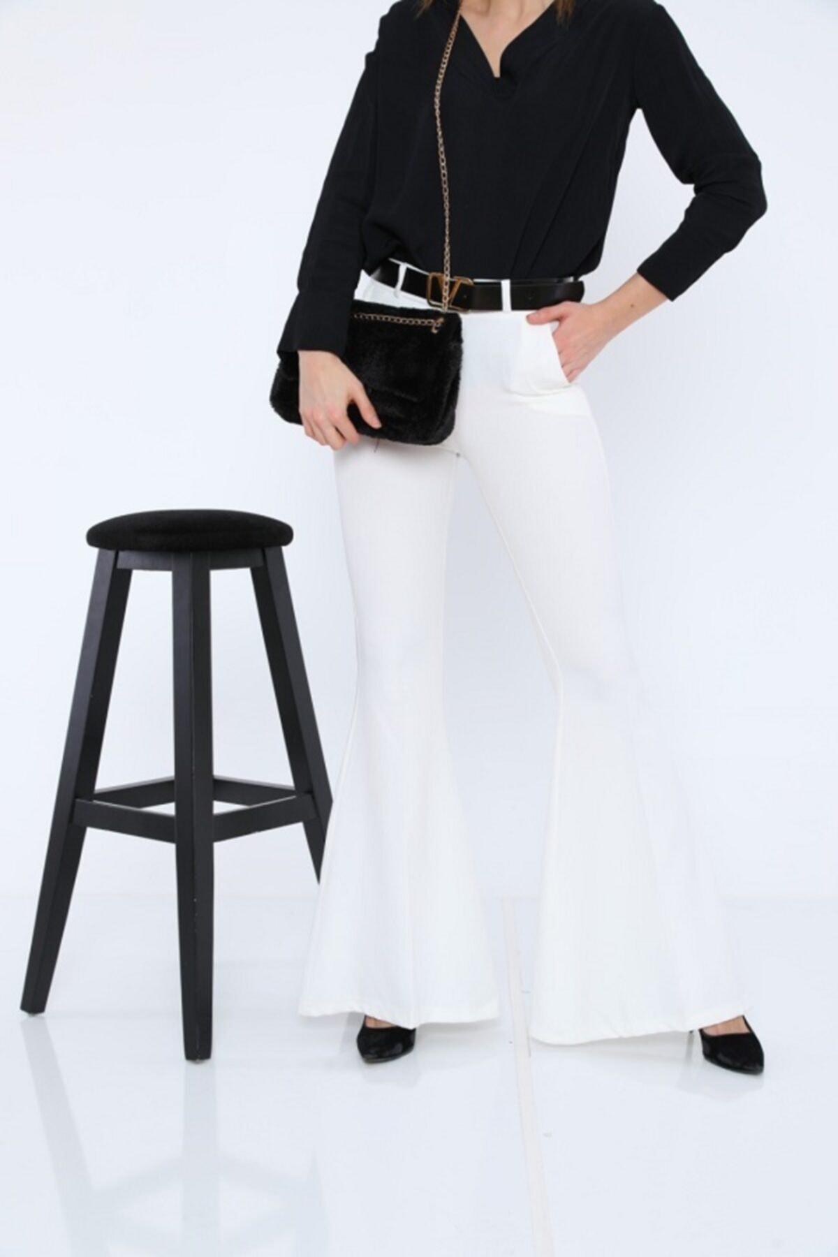 tugg style Kadın Pantolon Double Ispanyol Paça Genişliği 40 Cm'dir. 2