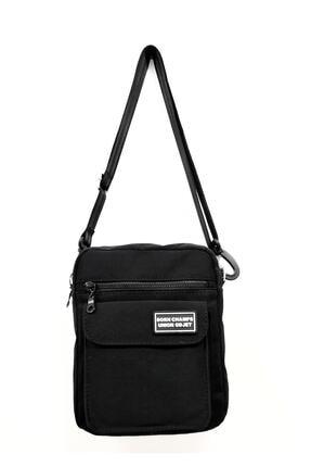 CuCu Bag's Unisex Siyah  Üç Gözlü Çapraz Askılı Postacı  Çantası Cc2113-1