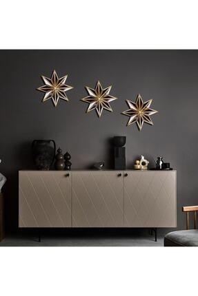 La Casa Art 3'lü Yıldız Ayna Duvar Aksesuarı