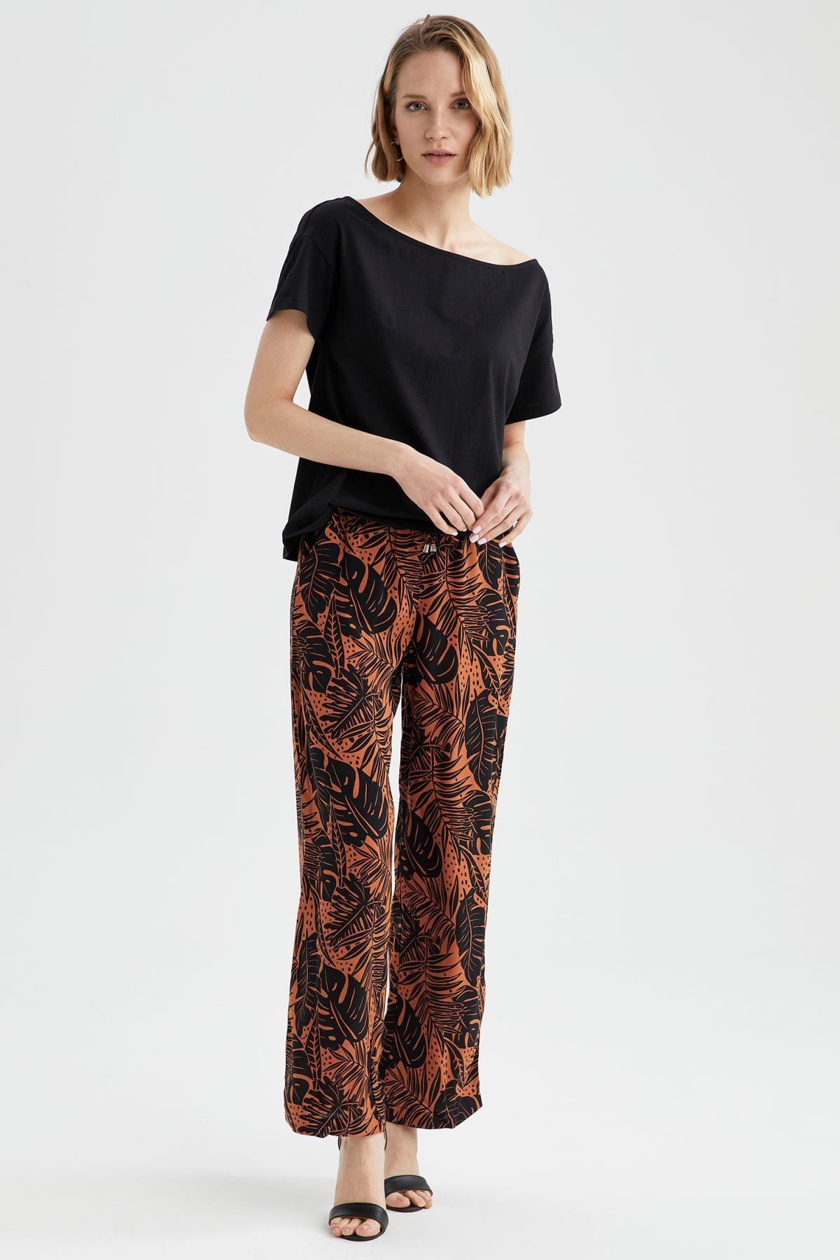 DeFacto Kadın Relax Fit Pantolon J8739AZ21SM