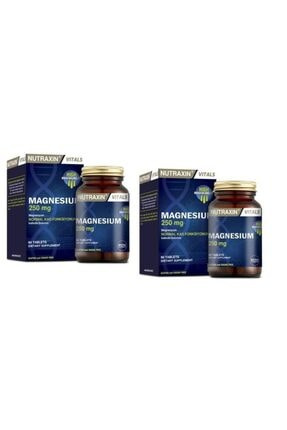 Nutraxin Magnesium 250 mg 60 Tablet x  2 Adet