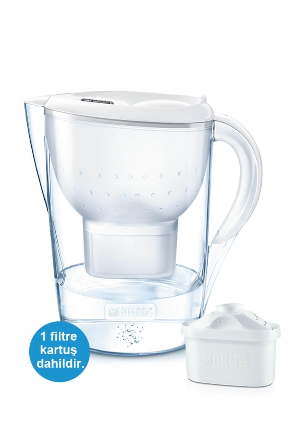 BRITA Marella Xl Filtreli Su Arıtmalı 3.5 Lt. Akıllı Beyaz Sürahi 1