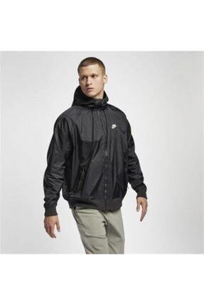 Nike Unisex Siyah Kapüşonlu Yağmurluk