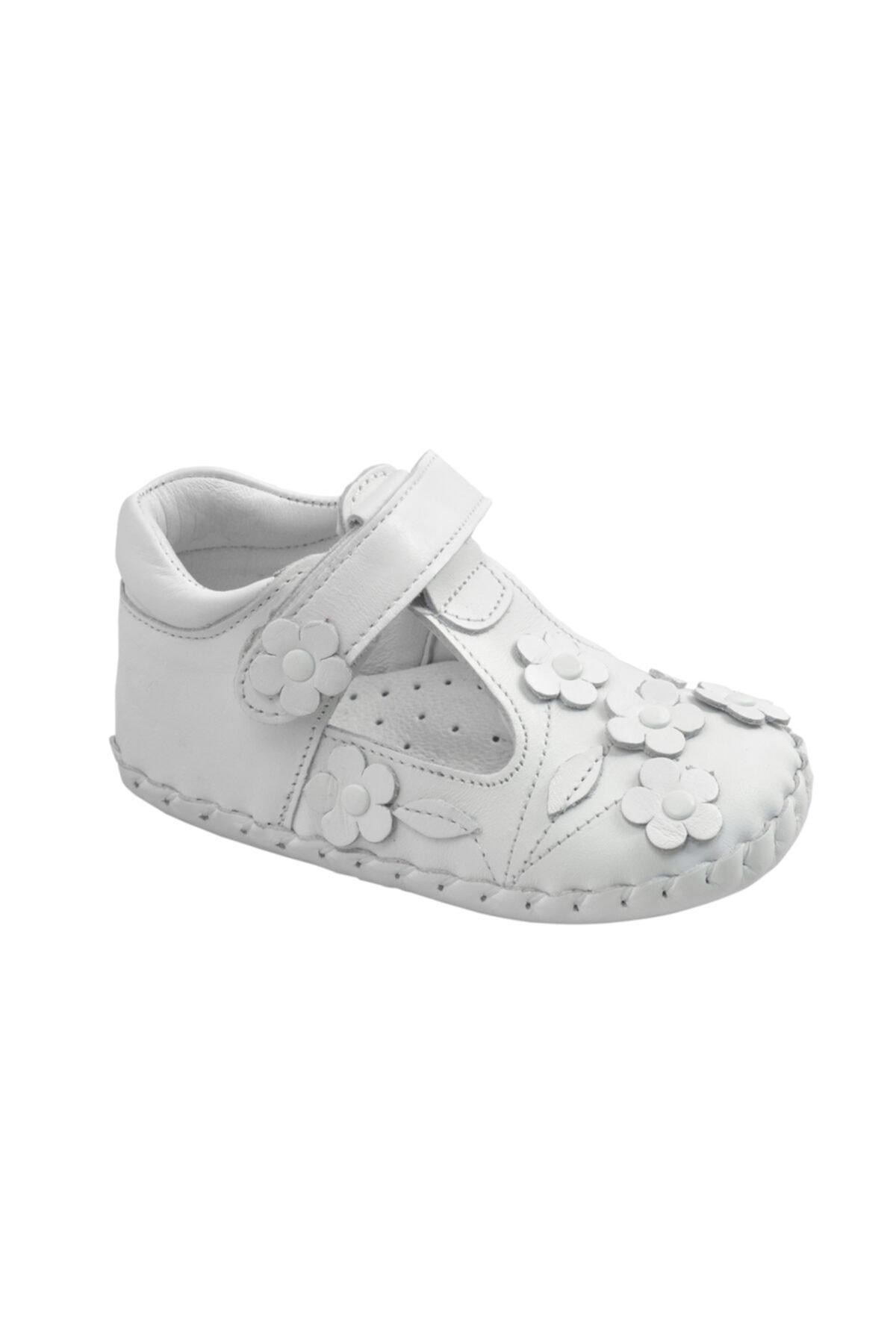 KAPTAN JUNIOR Ilkadım Hakiki Deri Kız Bebek Çocuk Ortopedik Ayakkabı Patik 1