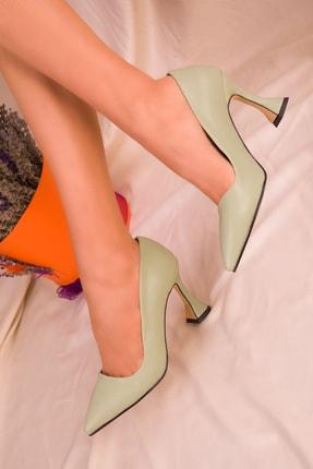 SOHO Yeşil  Kadın Klasik Topuklu Ayakkabı 15953