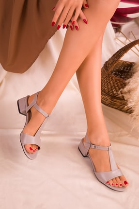 SOHO Gri  Kadın Klasik Topuklu Ayakkabı 15969