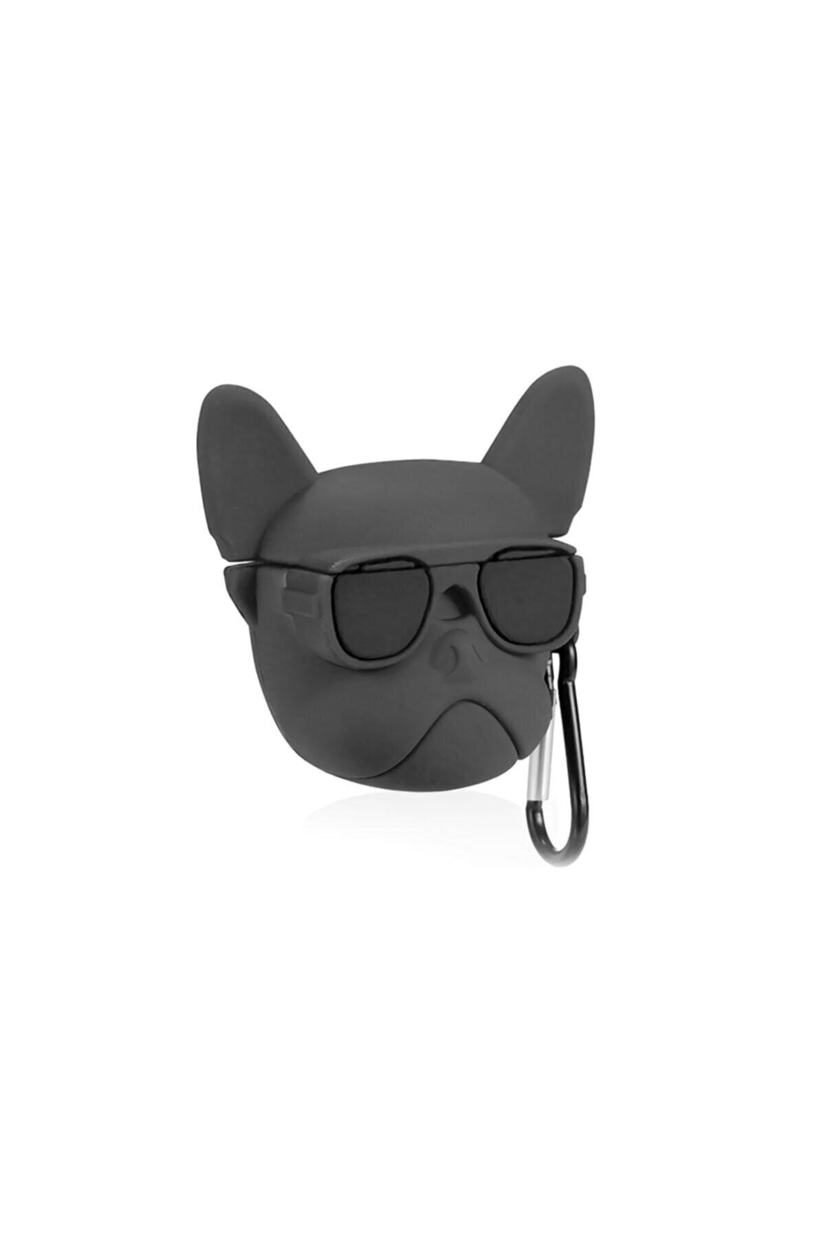 Playseba Airpods 1 ve 2 Uyumlu French Bulldog Köpek Koruyucu Kılıf 2