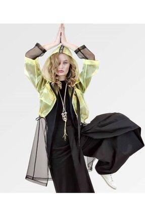miaruj Kadın Sarı Rüzgarlıklı Organze Ceket Fsy20y7356