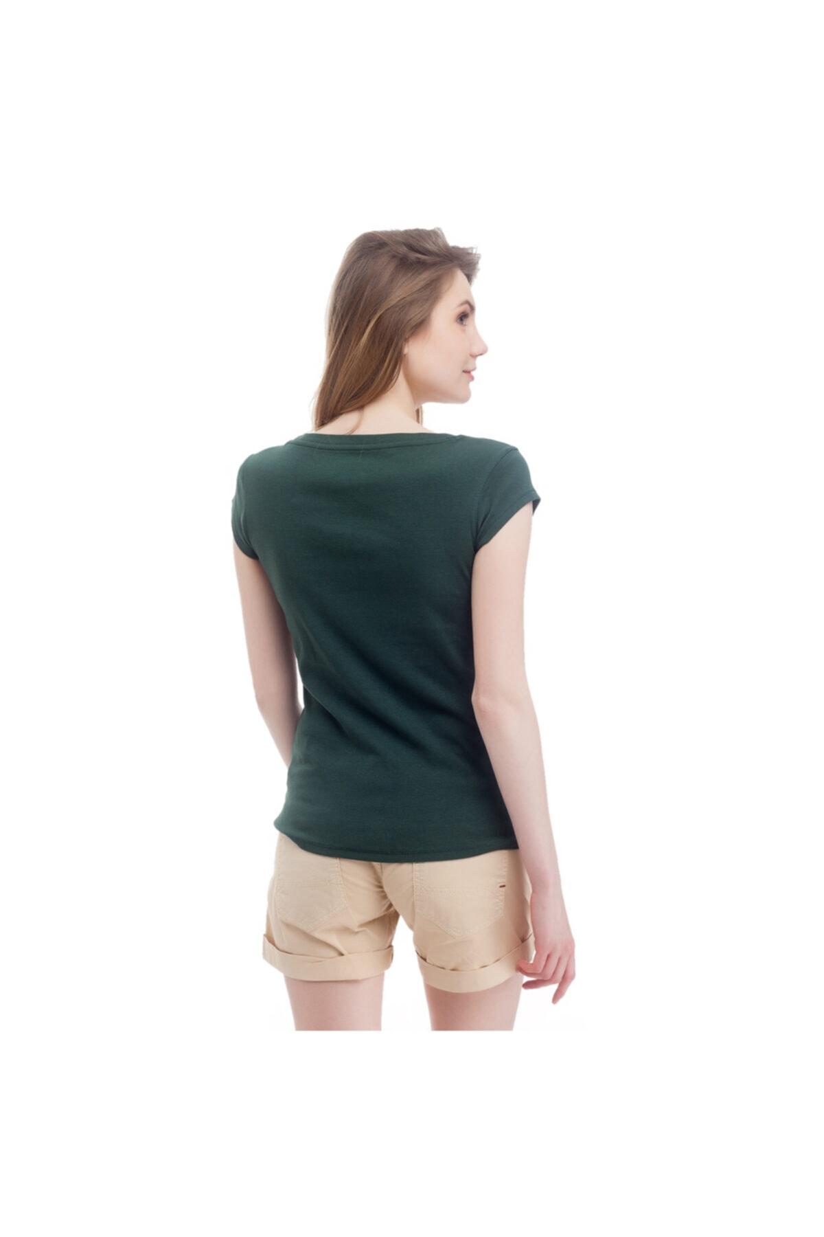 Mustang Kadın T-shirt Yeşil 2