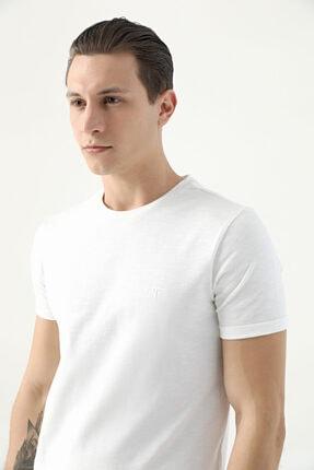 D'S Damat Erkek Bej Tween Kemik Baskılı T-shirt
