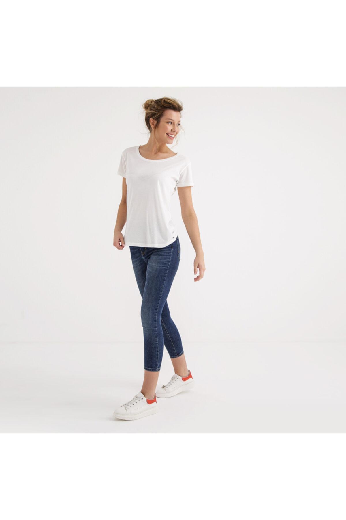 Mustang Kadın Baskılı T-shirt Beyaz 1