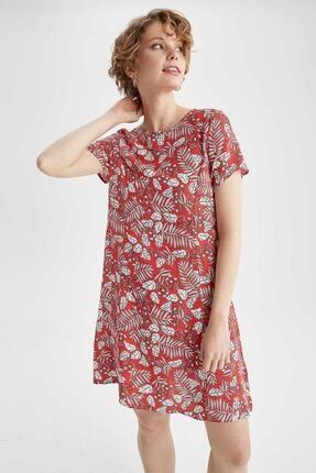 DeFacto Çiçek Desenli A Kesim Relax Fit Elbise