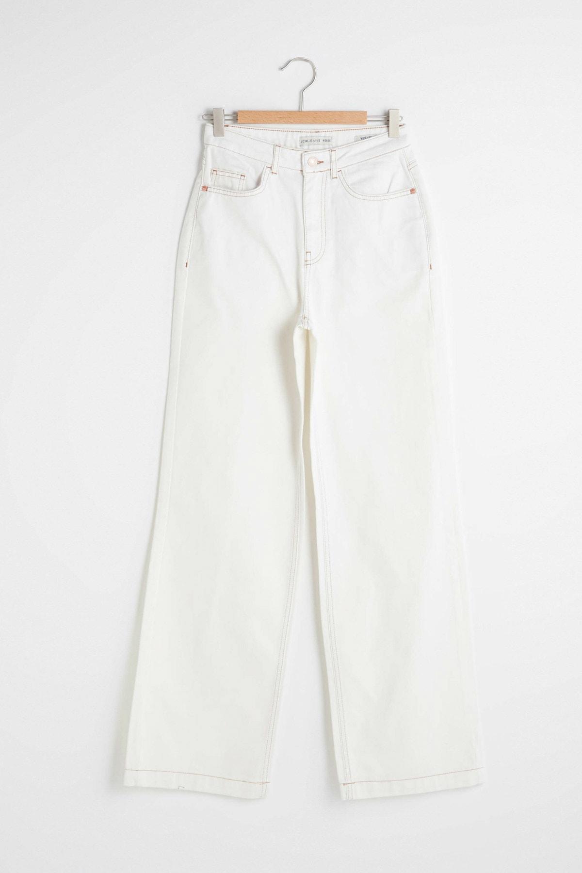 LC Waikiki Kadın Kırık Beyaz Jeans 1