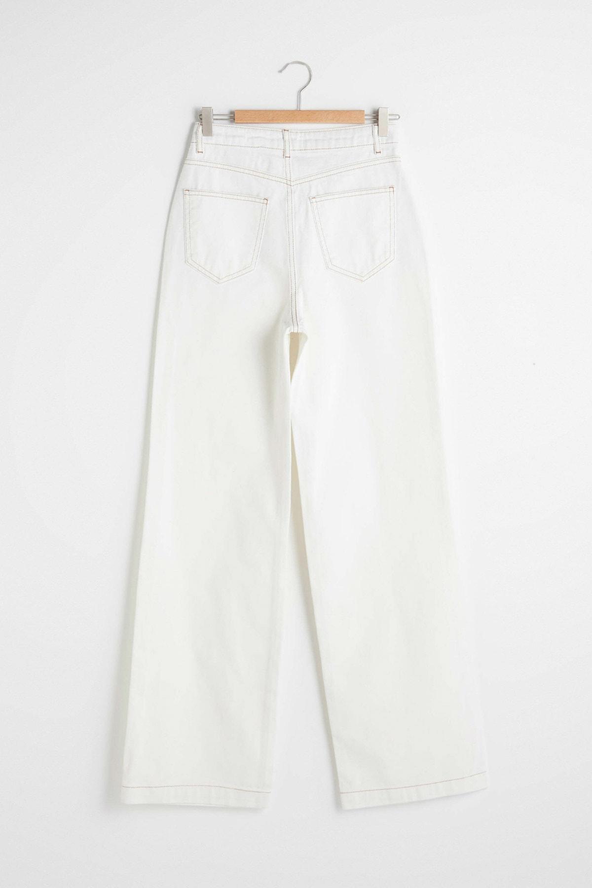 LC Waikiki Kadın Kırık Beyaz Jeans 2