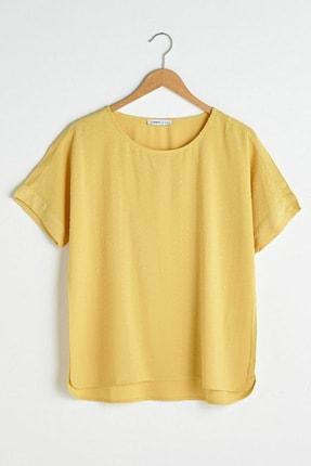 LC Waikiki Kadın Mat Sarı Bluz