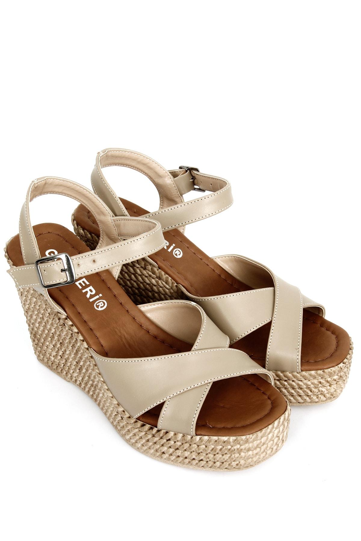 GÖNDERİ(R) Vizon Kadın Sandalet 40533 1