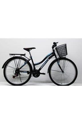 dorello Siyah Bisiklet 2650 Model 26 Jant Şehir Çamurluklu Bagajlı Bisikleti
