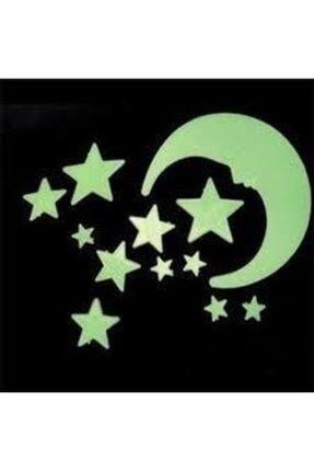 Artikel Karanlıkta Parlayan Fosforlu Ay ve Yıldızlar Orta Boy