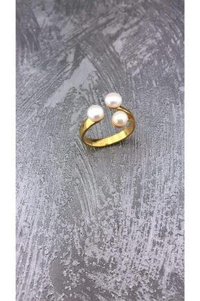 Joel Jewelry Inci Taşlı Altın Kaplamalı Şık Gümüş Yüzük