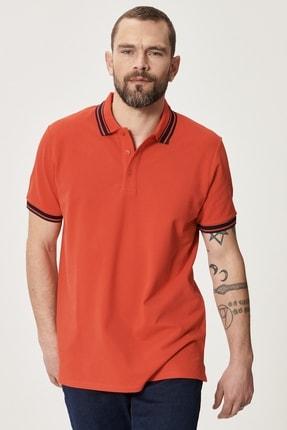 ALTINYILDIZ CLASSICS Erkek Nar Çiçeği Slim Fit Dar Kesim %100 Koton Polo Yaka Tişört