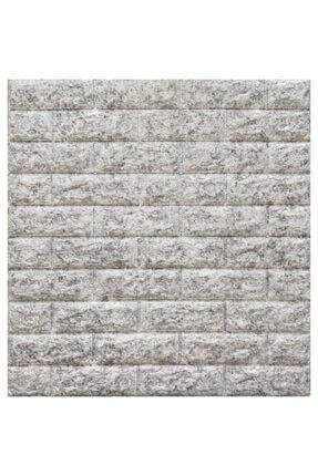 Renkli Duvarlar Nw16 Kendinden Yapışkanlı Çift Renk Gri Beyaz Esnek Tuğla Sünger Duvar Paneli 70x77 Cm 1 Adet 8,5mm