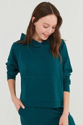 Penti Kadın Yeşil Cupro Kapüşonlu Sweatshirt