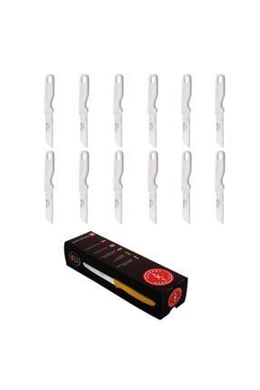 Solingen Beyaz Delik Saplı Meyve Bıçağı 12'li Takım