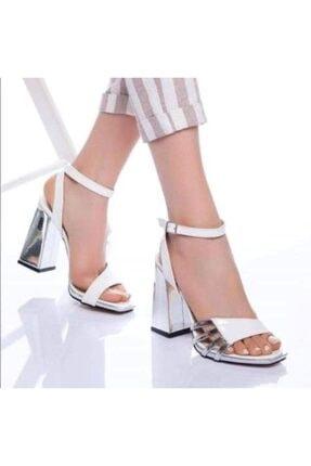 Yasin alkan Kadın Beyaz Gece Ayakkabısı