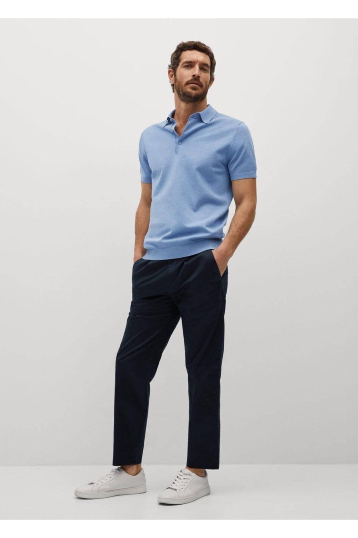 MANGO Man Triko Koton Polo Tişört 2