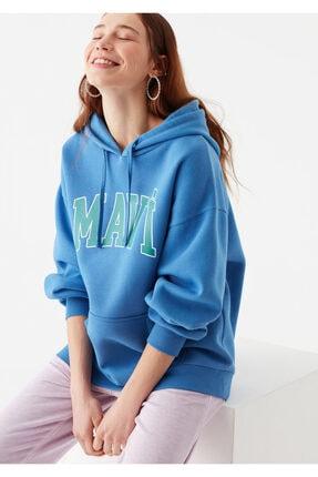 Mavi Kadın Mavi Logo Baskılı Sweatshirt
