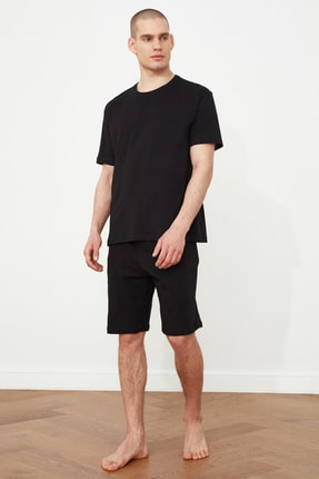 TRENDYOL MAN Siyah Örme Pijama Takımı THMSS21PT0219