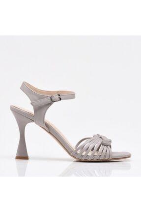 Hotiç Gri Yaya Kadın Sandalet & Terlik