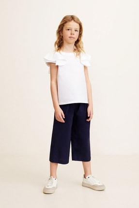 MANGO Kids Kız Çocuk Ekrü Gömlek 43037725